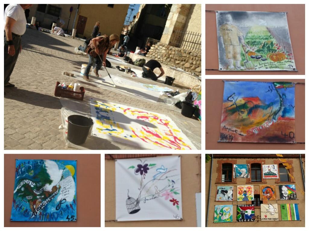 Peintures dans les rue de Toulouges pour le concours 2014