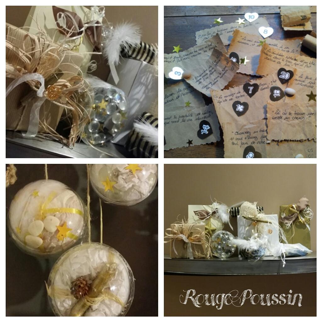 Cadeaux et billets doux qui feront partis du calendrier de l'avent 2014