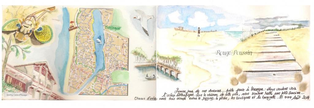 Soorts-Hossegor 2014 : Extrait de mon carnet de vacances