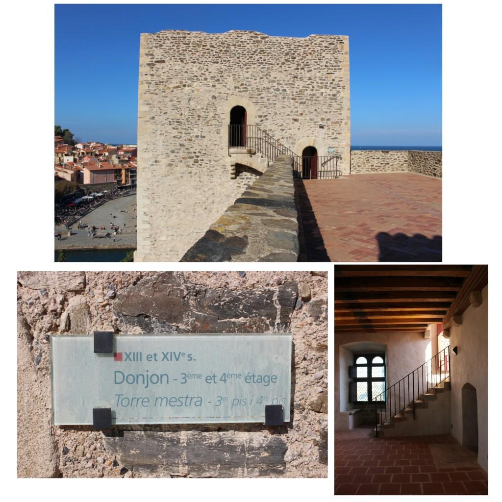 Salle du Donjon au 3éme étage du Château de Collioure