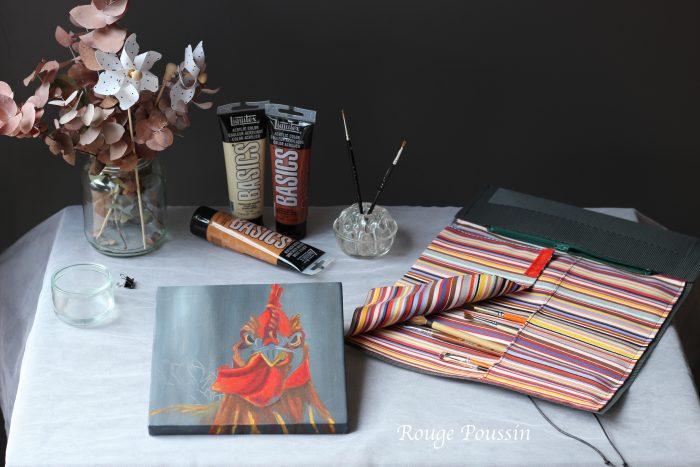 Trousse à pinceaux multicolore : collection 2017