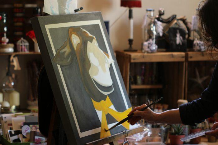 """Une nouvelle ânerie en préparation pour le """"Printemps des arts"""" à Bompas."""