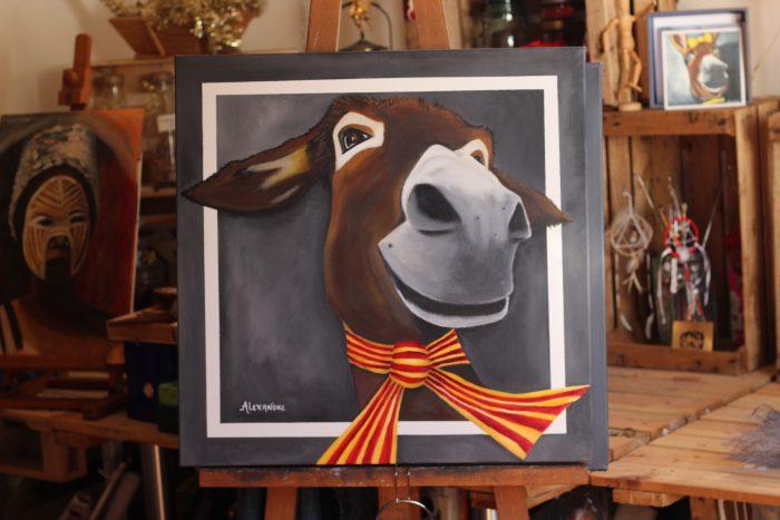 Anerie n°11 de Carole. Tableau acrylique. 60x60