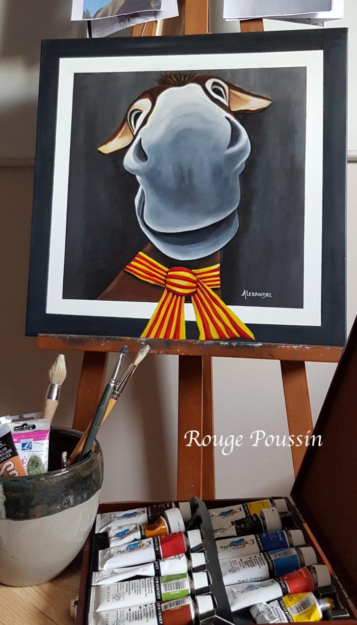 Présentation du tableau de Aneth réalisé à l'acrylique.
