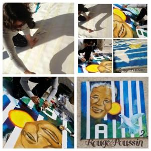 Concours de peinture 2014 à Toulouges. Thème : Mandela : un combat pour la paix.
