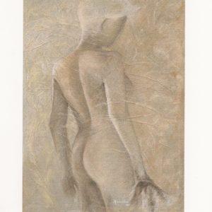 Affiche exposition de peinture en 2004 à l'hôtel des II Mas à Cabestany