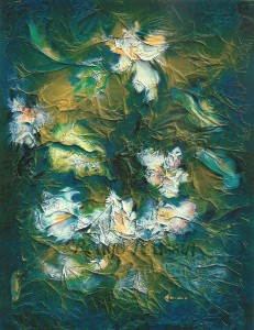 """""""Poésie Fleurie"""" : Peinture à l'huile"""