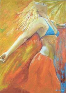 """""""Bain de soleil"""" : Peinture à l'huile"""