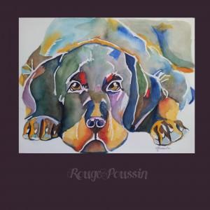Petit chien à l'aquarelle …..