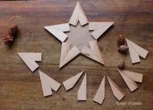 Etoile de noël en bois : DIY en images