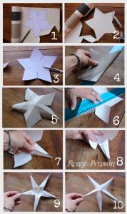 Les 10 étapes pour créer l'étoile 3D du calendrier de l'avent.