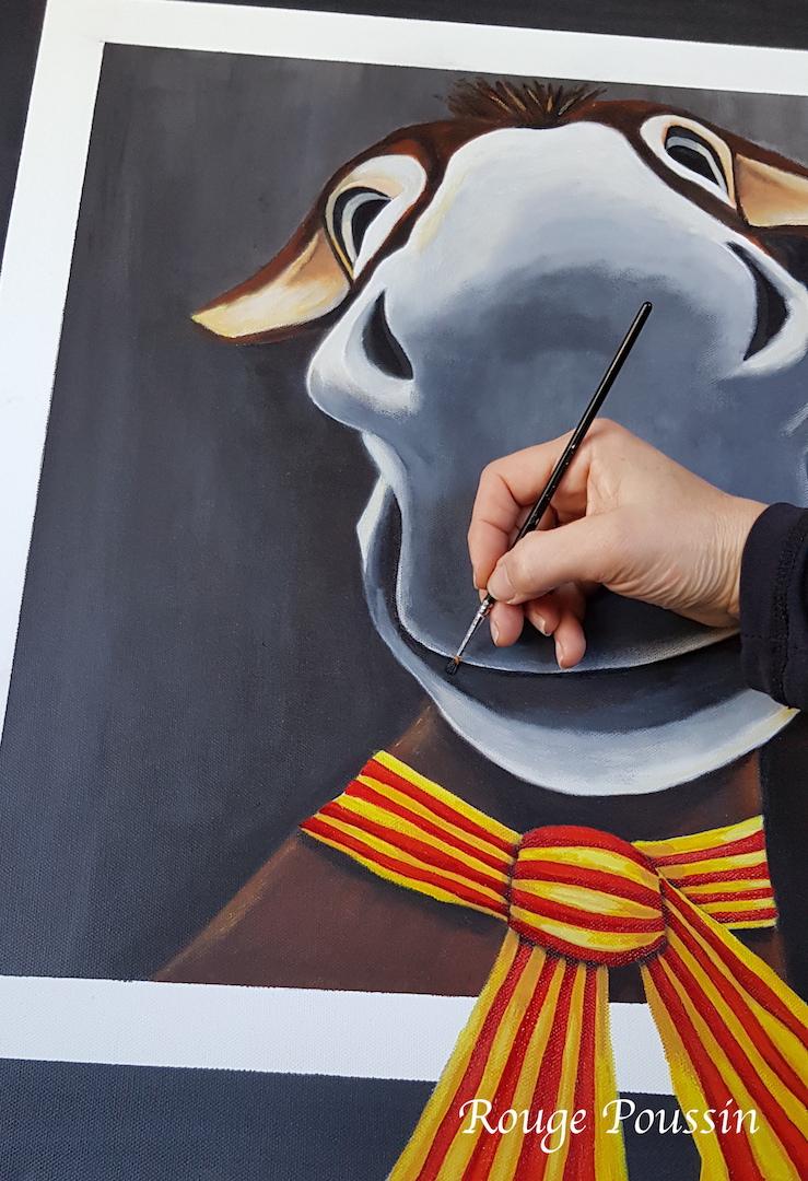 Aneth : peinture à l'acrylique sur toile