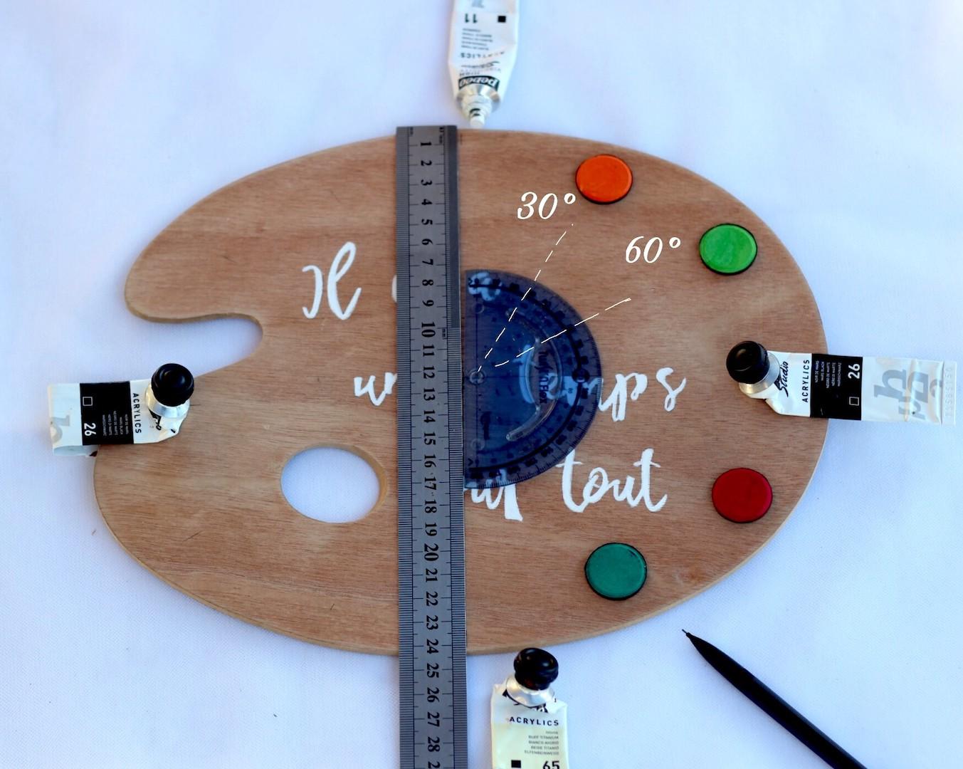 Troisième étape du diy pour réaliser une horloge