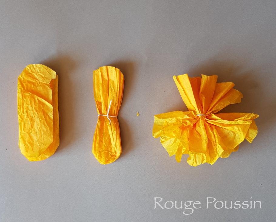 Deuxième partie pour réaliser des fleurs en papier