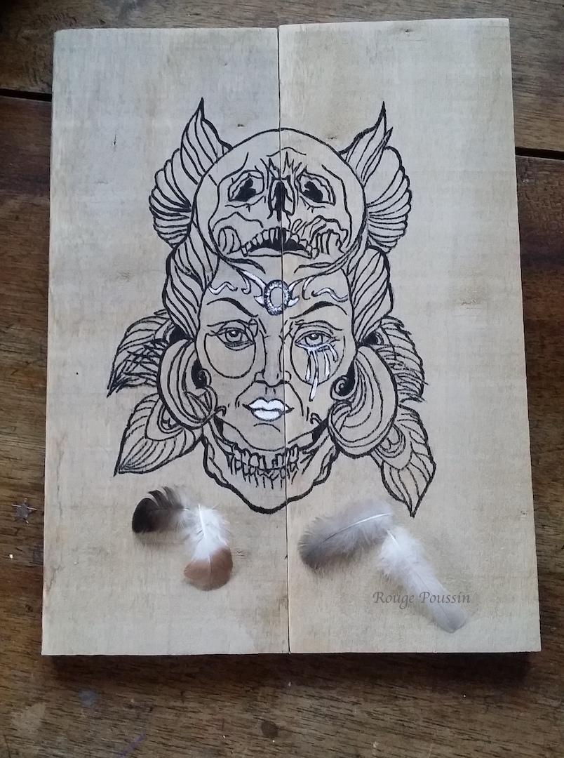 Réalisation d'un cadre en bois avec deux planches de palette