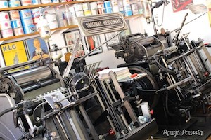 "Superbes anciennes machines à imprimer ""Heidelberg"""