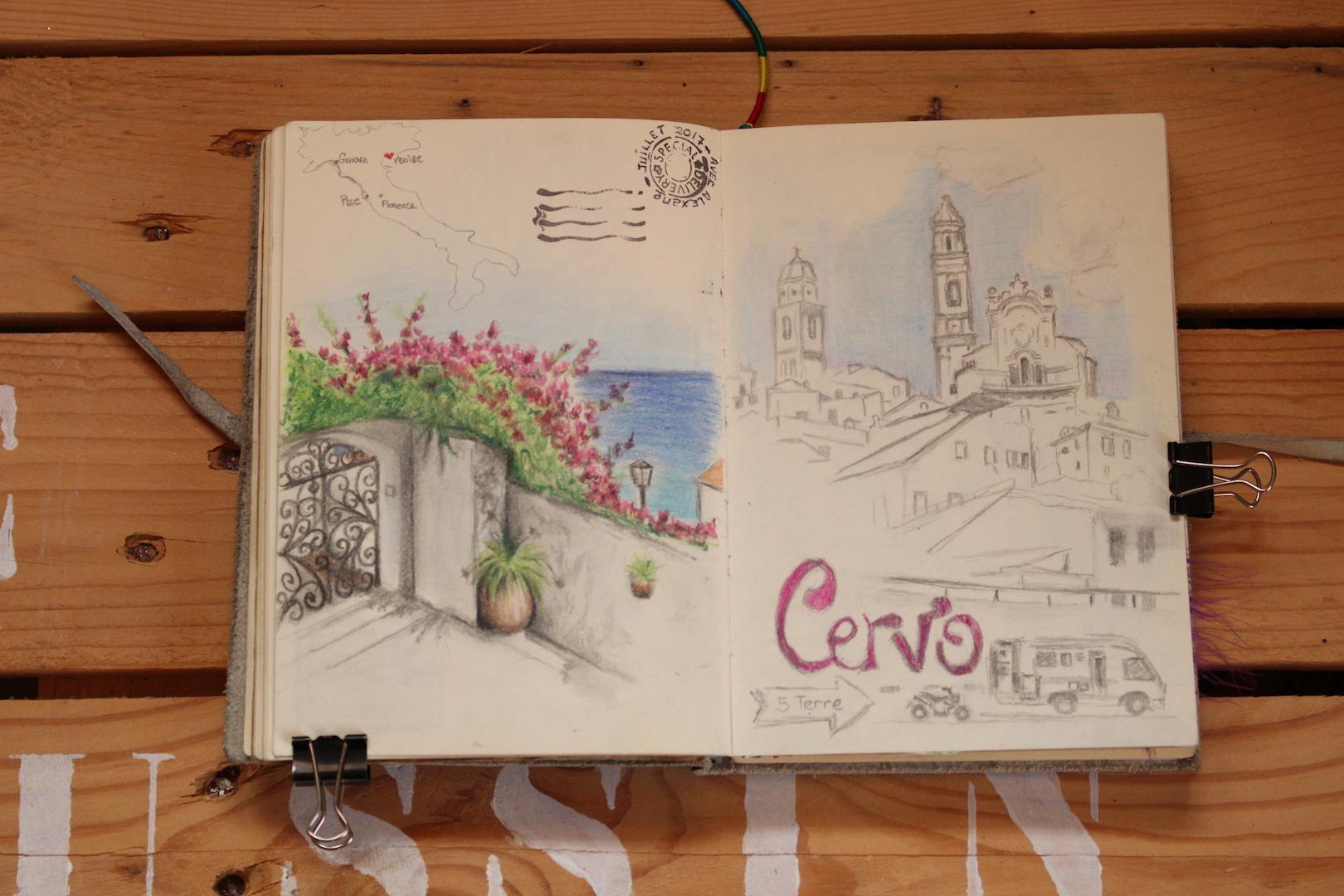 Croquis de Cervo en Italie