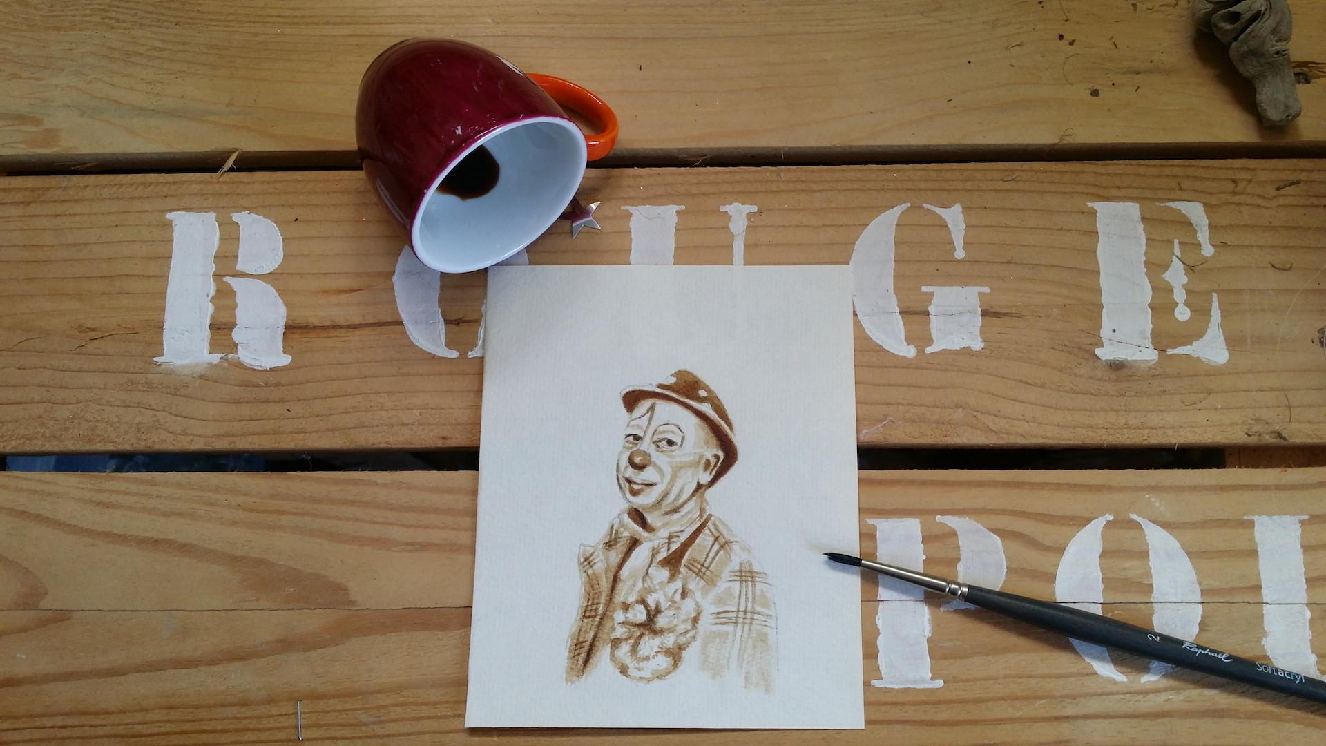 Portrait de Sergio à la pause café.