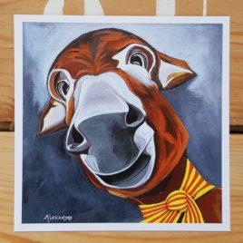 la carte postale Anatole est la reproduction du tableau original réalisé par l'artiste peintre Carole Alexandre en juillet 2014