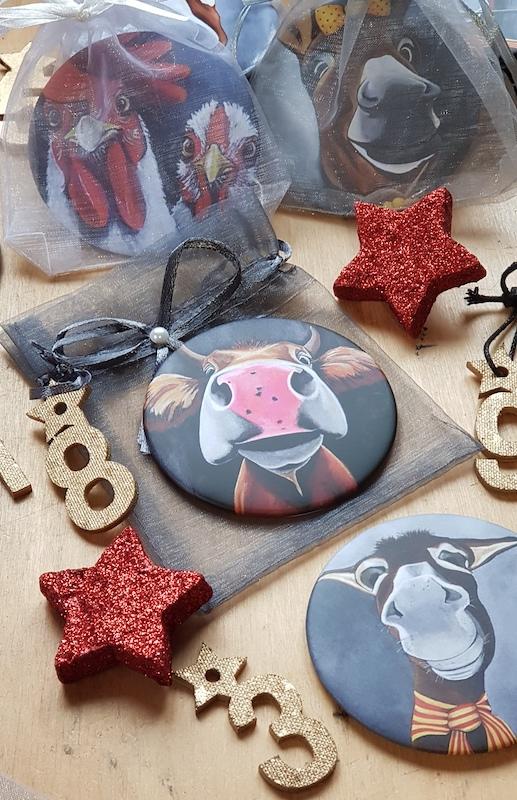 Des magnets comme idée cadeau pour glisser dans le calendrier de l'avent.